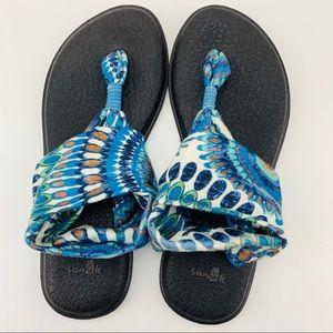 Sanuk Yoga Sling ll Printed Textile Slip On Sandal